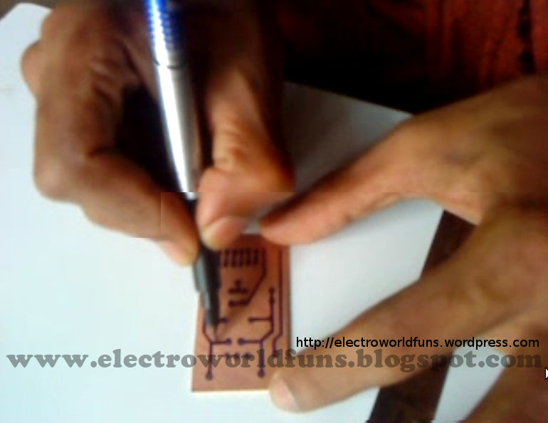 Printer To Help Him Etch The Circuits On A Copper Clad Board Using