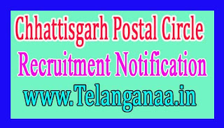 Chhattisgarh Postal Circle Recruitment Notification 2017