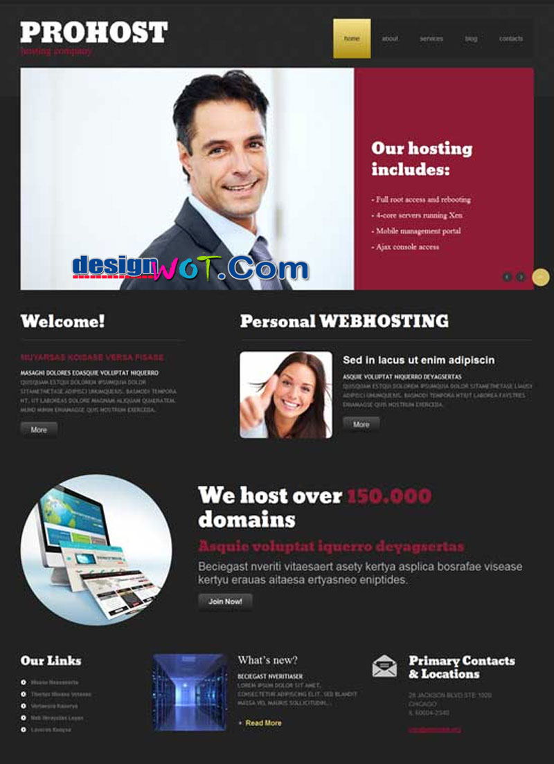 PROHOST - Hosting Responsive WordPress Theme