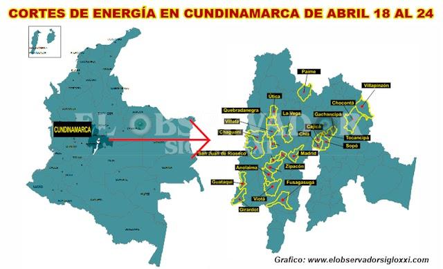 Codensa continúa intervención en redes de energía para lo que anuncia nuevos cortes en el servicio