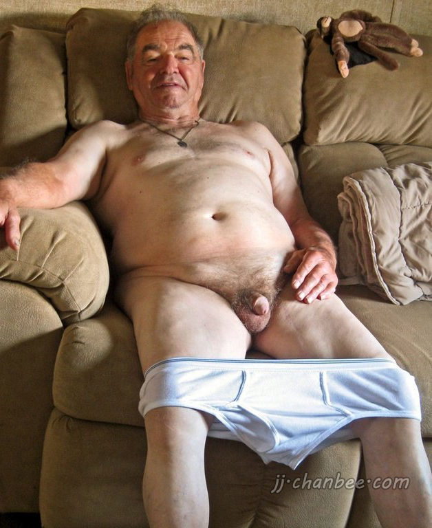 old man naked selfie