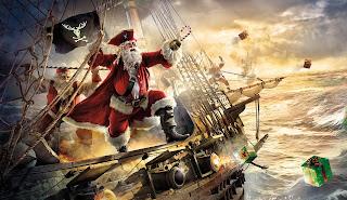 Pirat Weihnachtsmann wasser