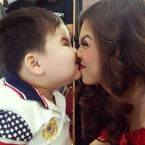 Yaya Dub's 1st real kiss, nose-to-nose, but not with Alden