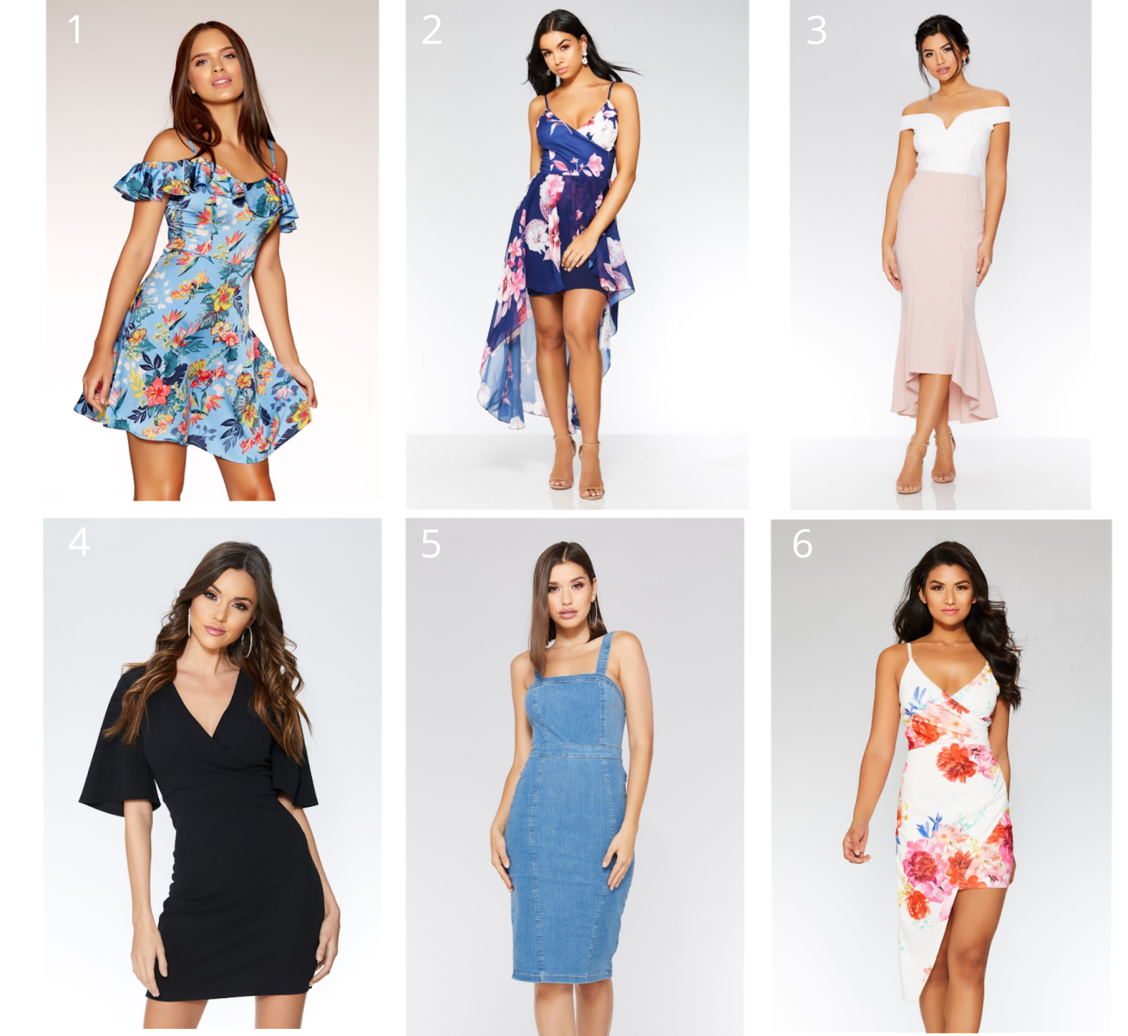 6 of Quiz's Going Out Dresses