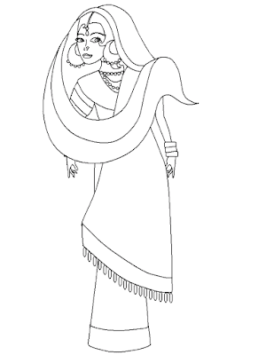 Gambar Mewarnai Wanita Cantik - 2