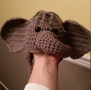 Crochet Newborn Elephant Outfit