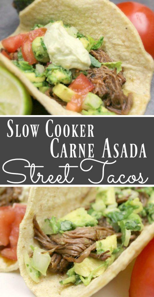 SLOW COOKER CARNE ASADA STREET TACOS