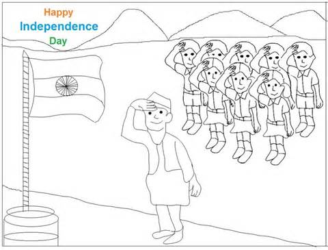 Easy Independence Day drawing