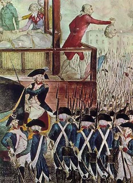 """Cardeal Pie: """"a Revolução é satânica na sua essência"""" Gravura da execução do rei Luís XVI."""