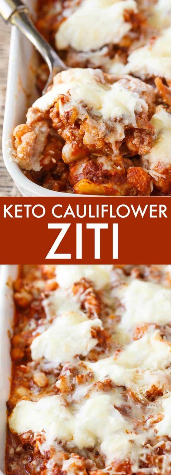 Keto Cauliflower Ziti