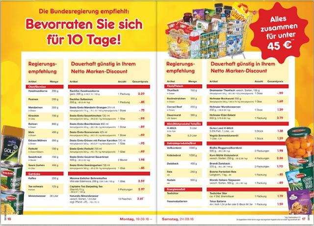 Реклама сухого пайка в Германии