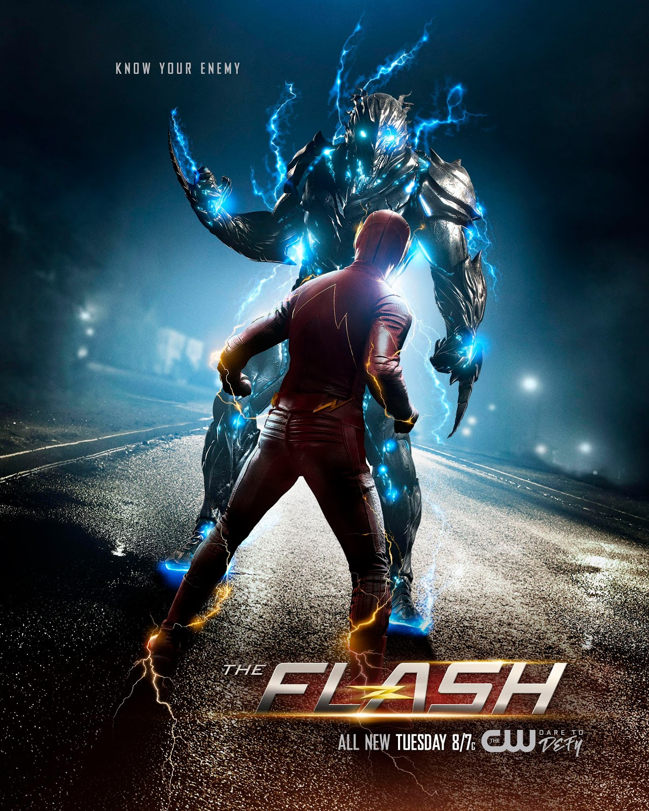 The Flash 3x19 Once and Future Flash poster