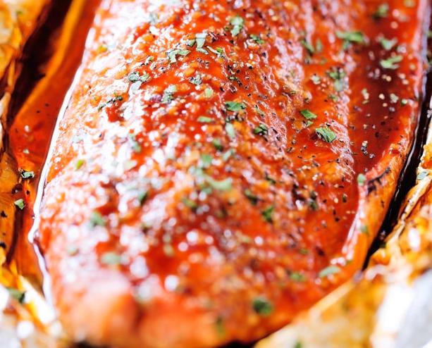 Firecracker Baked Salmon in Foil Recipe