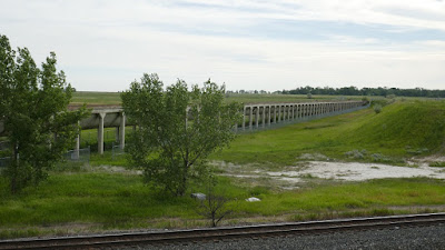 Brooks, Alberta, aqueduct, historic, irrigation, canal