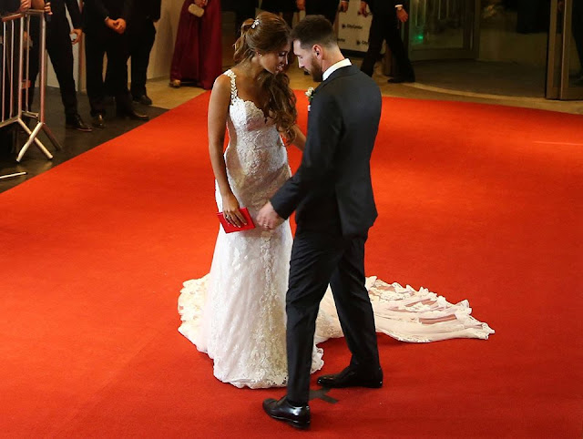 Barcelona's Argentine football star Lionel Messi's wedding of the century