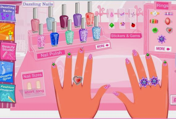 Barbie nail polish games for girls.