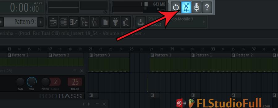 clique no ícone da tesoura na área de ferramentas (Open Audio Editor)