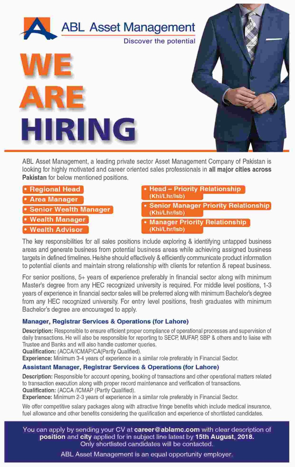 Allied Bank Limited Jobs August 2018 - Naya Pakistan