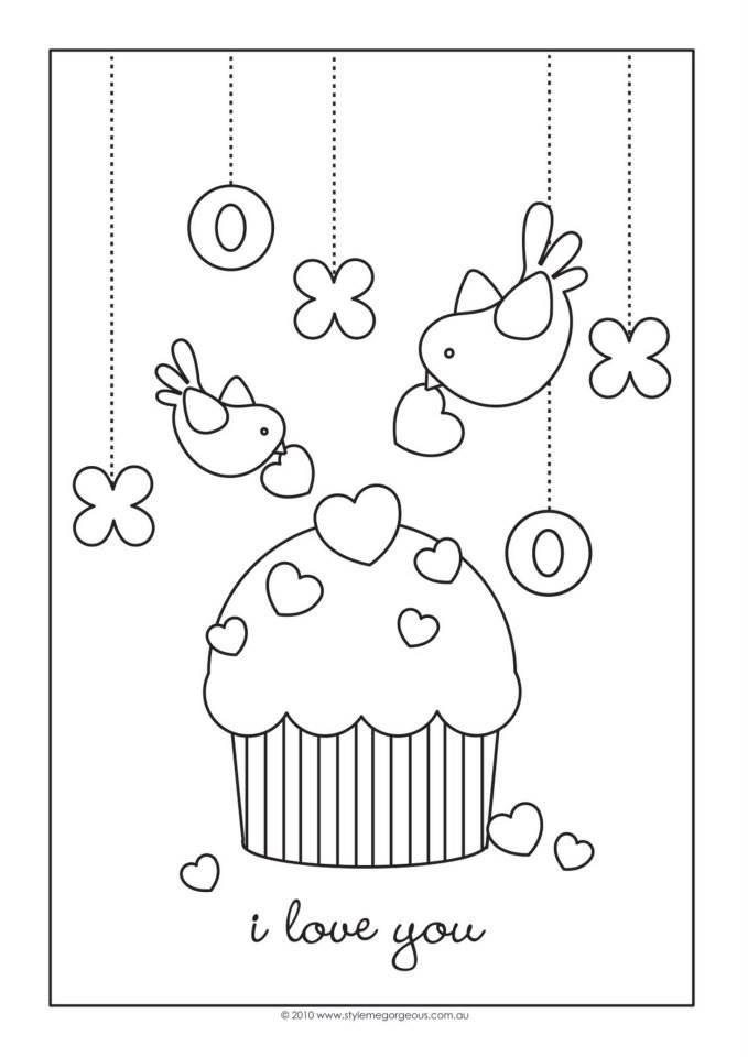PELANGI UNA: bahan mewarnai untuk cupcake hello kitty