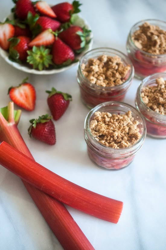 Strawberry Rhubarb Crumbles (AIP, Paleo, Vegan)