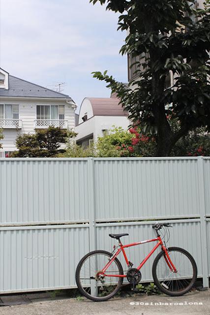 Red bicycle in Shimokitazawa, Tokyo