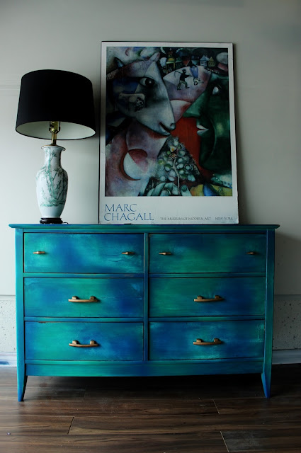 Green and Gold Bohemian Dresser