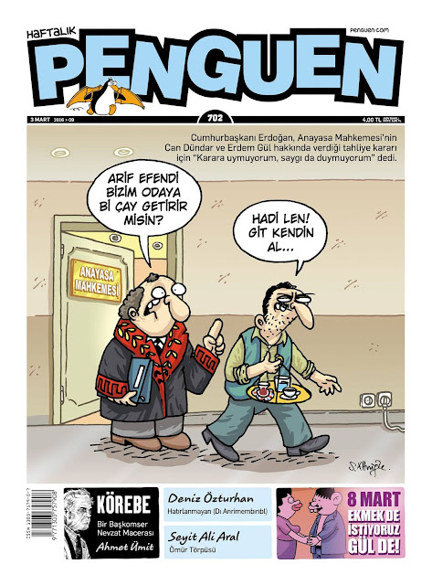 Penguen Dergisi - 3 Mart 2016 Kapak Karikatürü