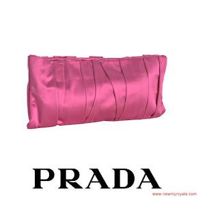 Crown Princess Mette-Marit carried PRADA Cherry Clutch