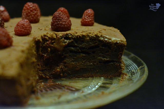 Tarta ràpida de chocolate con frosting de chocolate y queso tererecetas 03