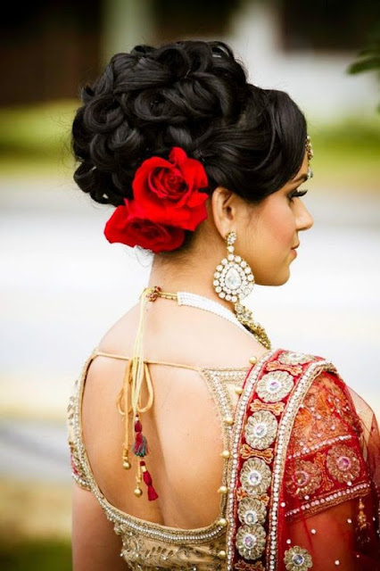Indian wedding hairstyle updo