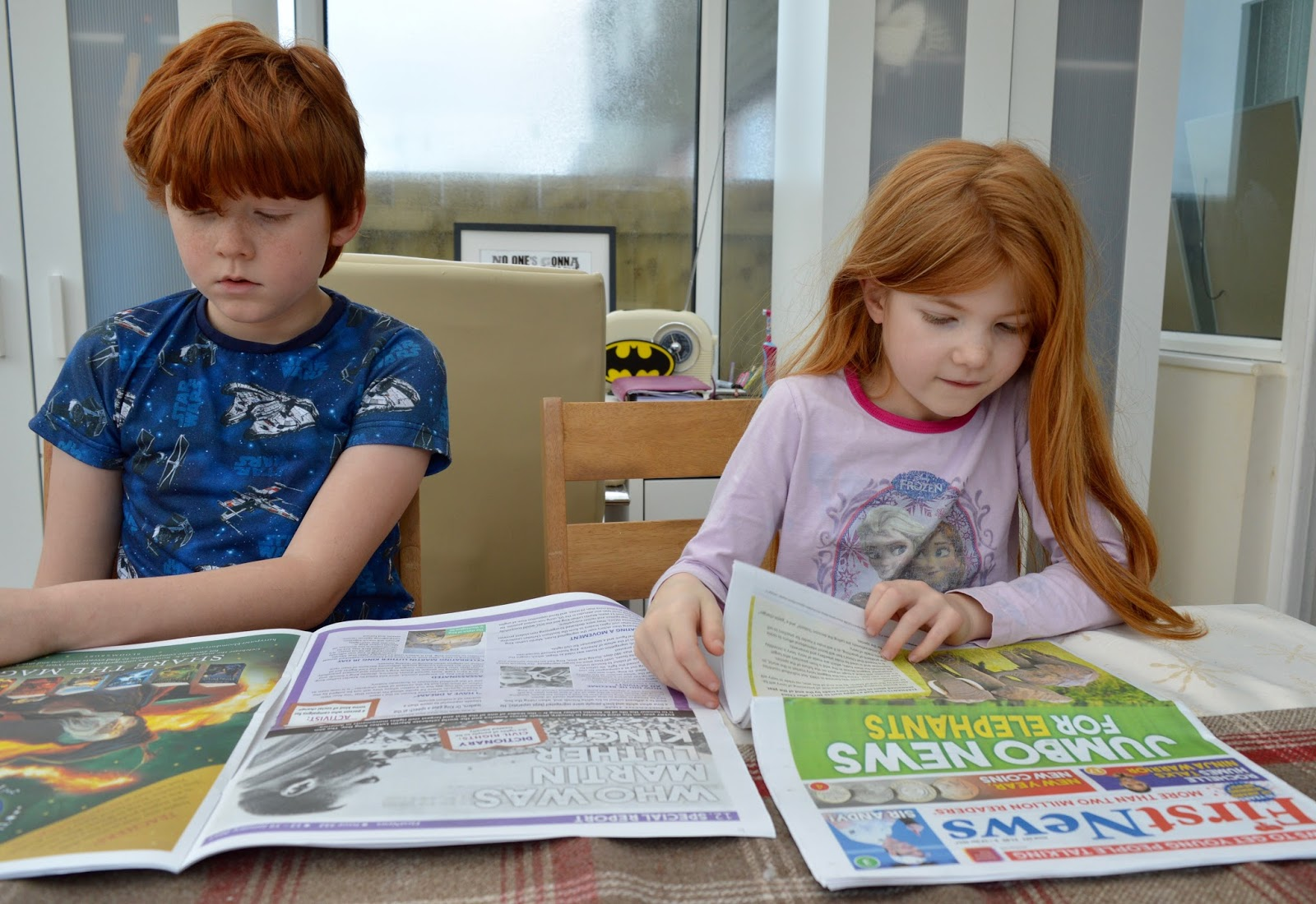 First News Newspaper features and review. A fantastic resource to encourage discussion for children and young people aged 7- 14 years. Plus a special trial offer for our readers.  - 10 year old reading paper