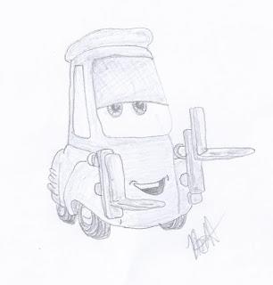 迪士尼插画研究:汽车
