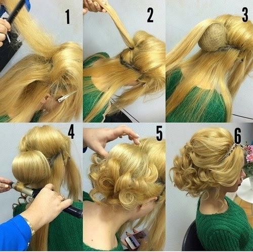 Fancy Bridal Flower Bun Hairstyle Tutorial Entertainment News