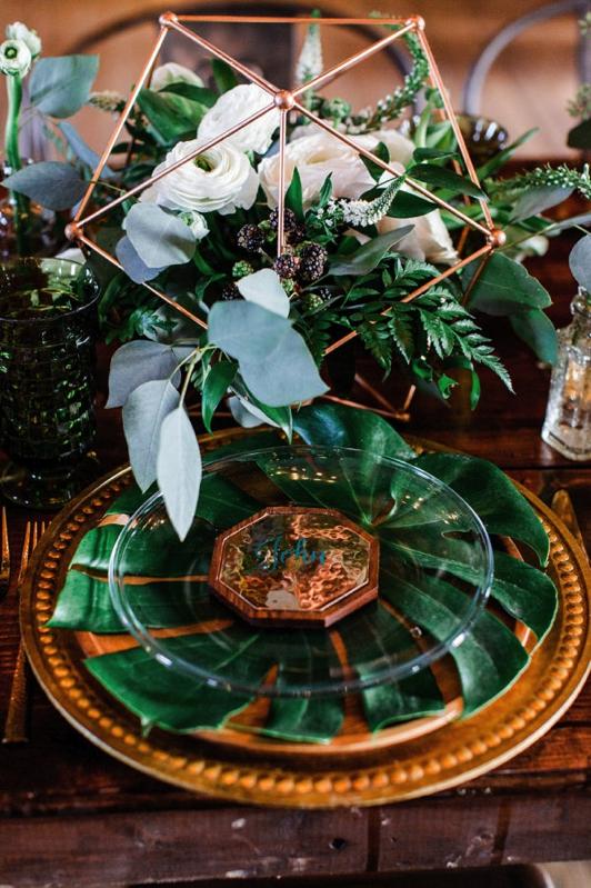 Boda en colores cobre y verde chicanddeco