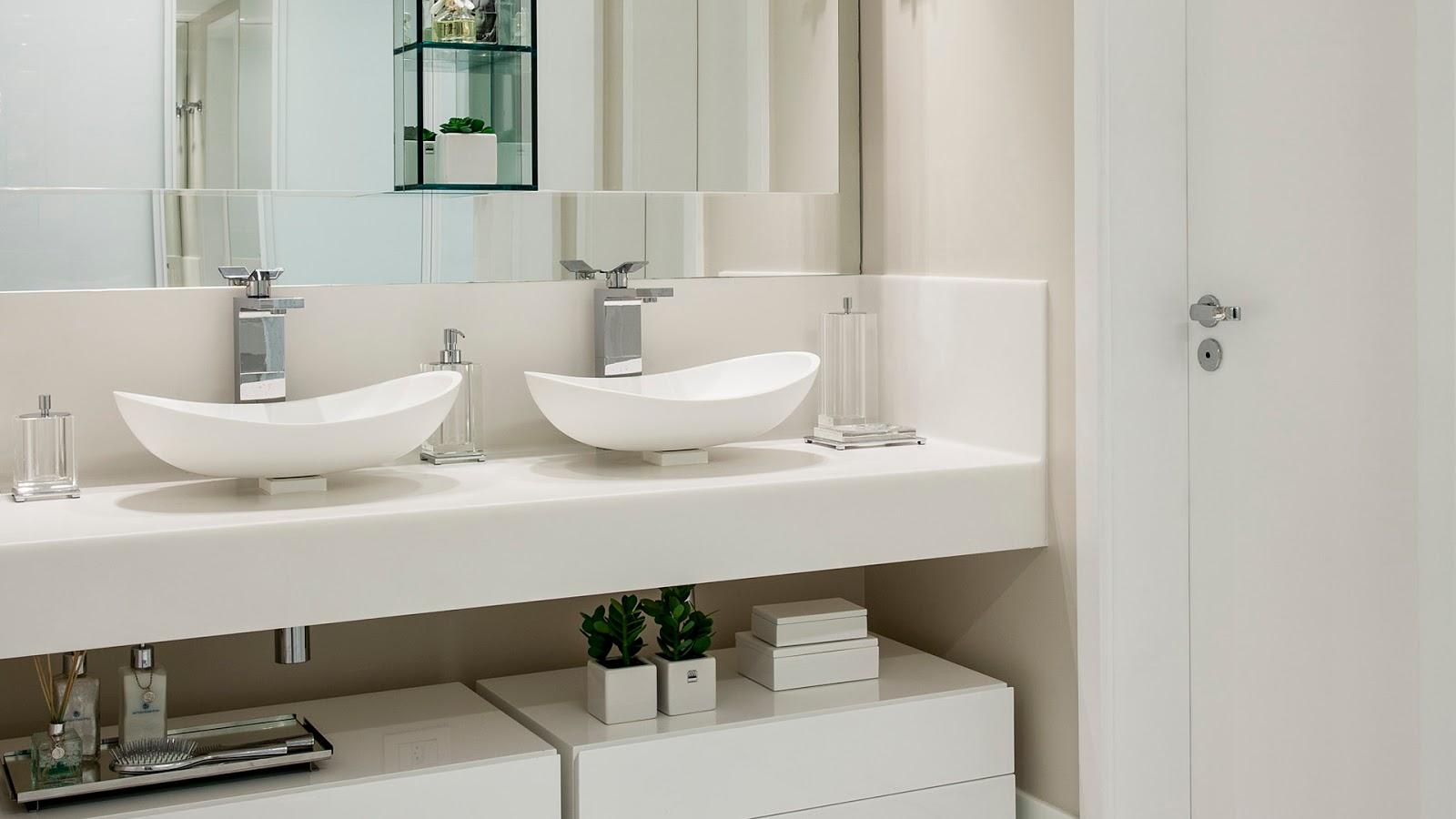 com cores claras! Decor Salteado Blog de Decoração e Arquitetura #3B3727 1600x900 Arquitetura De Banheiro Simples