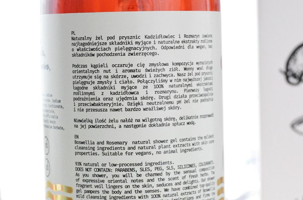 YOPE - Naturalny żel pod prysznic Kadzidłowiec i rozmaryn