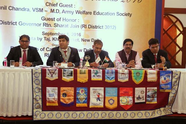 The Rotary Club of Capital City New Delhi honours teachers
