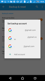 set backup account