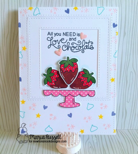 Chocolate Card by Maria Russell | Love & Chocolate stamps set by Newton's Nook Designs #newtonsnook