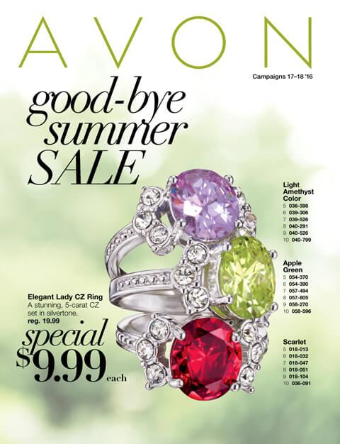 Avon Good Bye Summer Sale Good Through 8/19/16 Online Flyer.