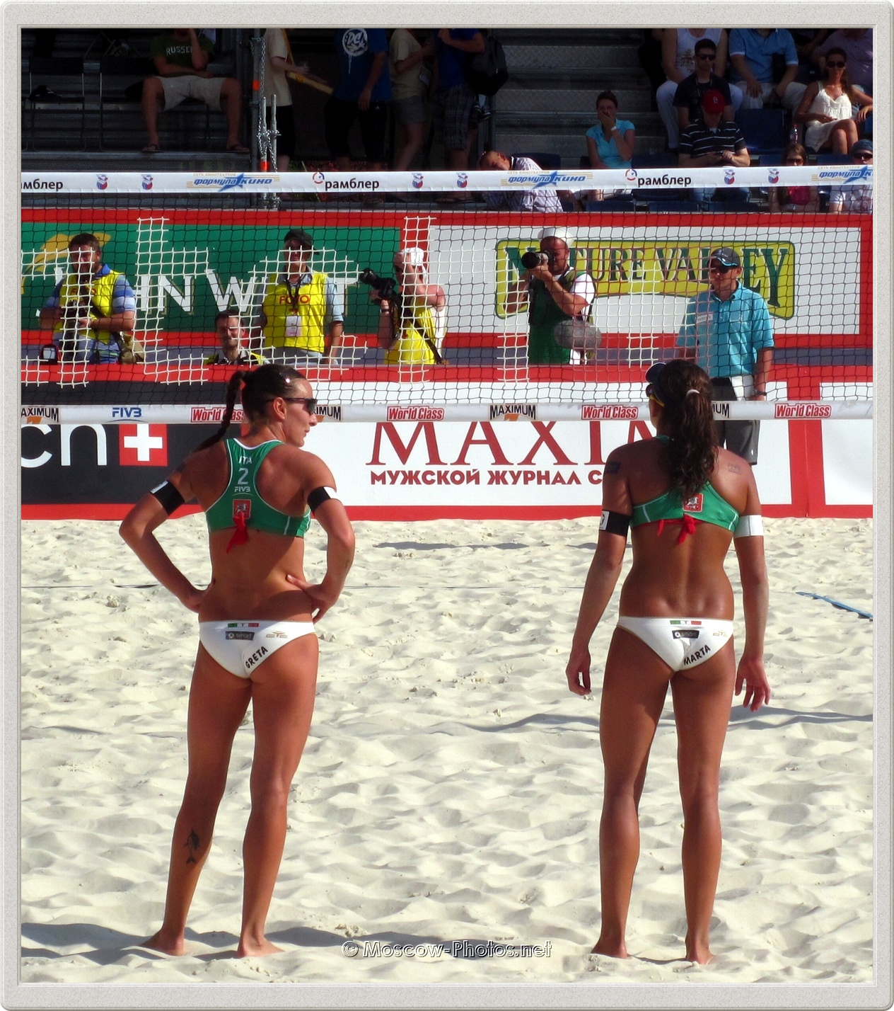 Italian Women's Beach Volleyball Team in Moscow