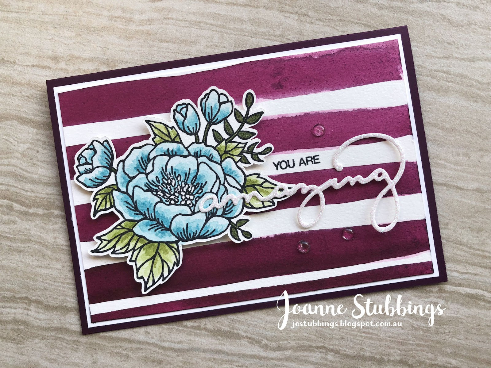 Jo's Stamping Spot - For Sara - Kylie's International Blog Highlights using Birthday Blooms by Stampin' Up!