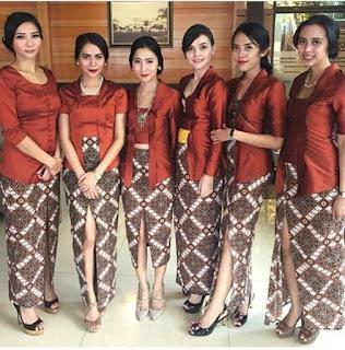 Model Kebaya Batik Terbaru Kutubaru Rok Batik Panjang Maroon