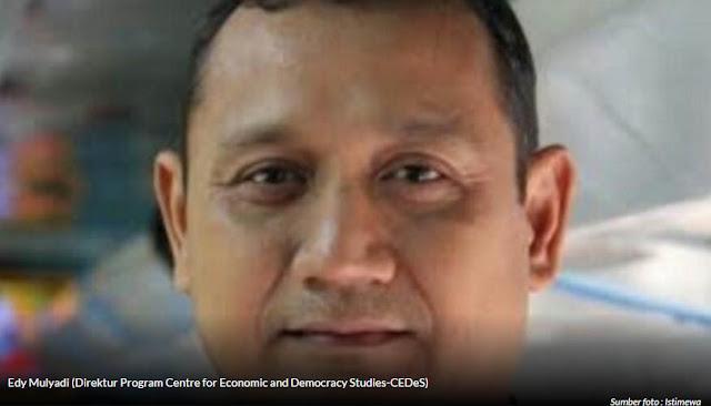 Edy Mulyadi (Direktur Program Centre for Economic and Democracy Studies-CEDeS)