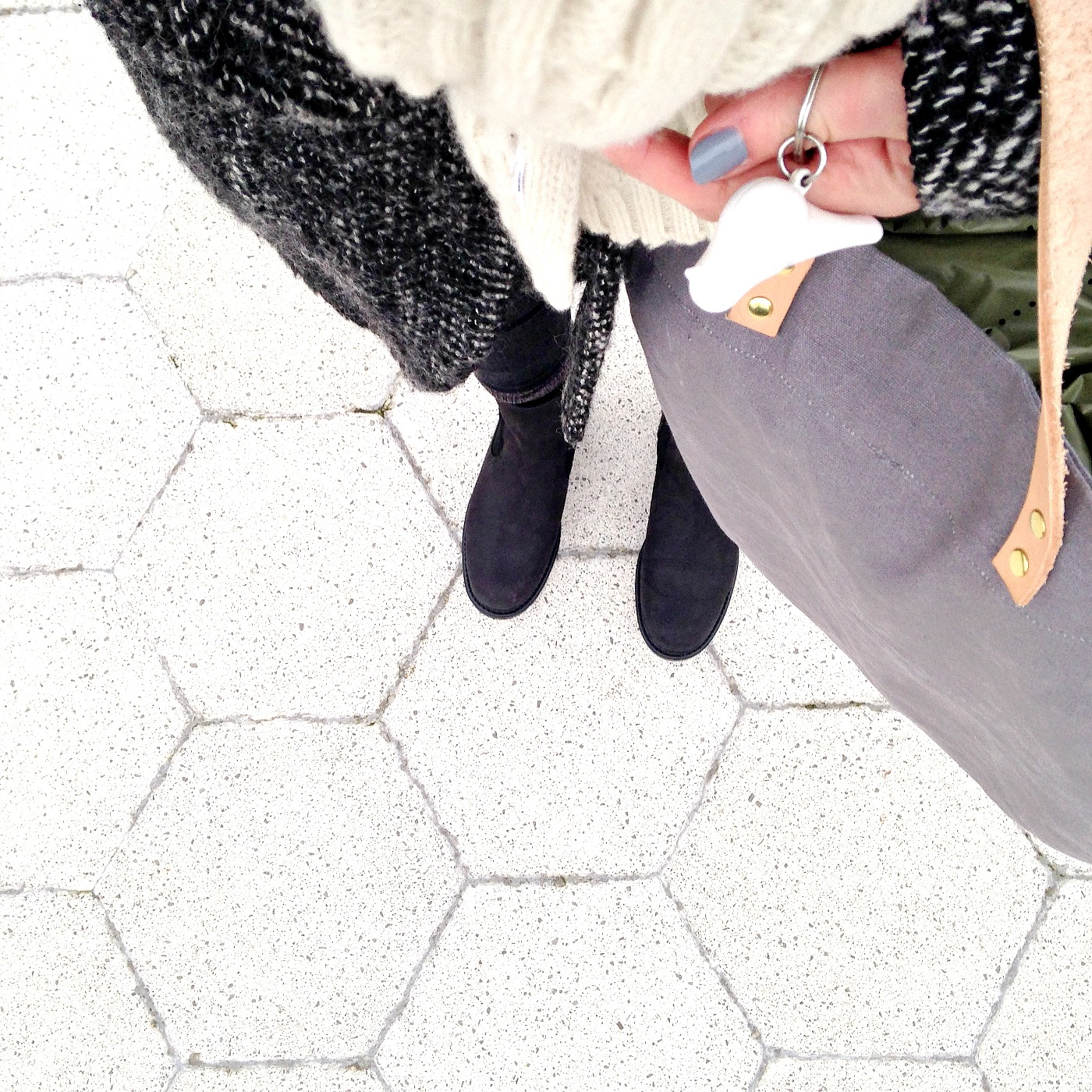 winter boots and coffee mama style