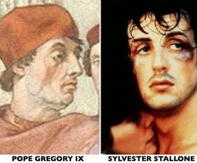 Sylvester Stallone dhe Papa Gregory IX