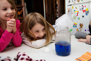 Weather science for kids with a cloud in a jar