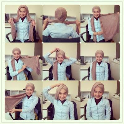 Tutorial Hijab Turban Pashmina Modern Gaya #15 Kantoran Style