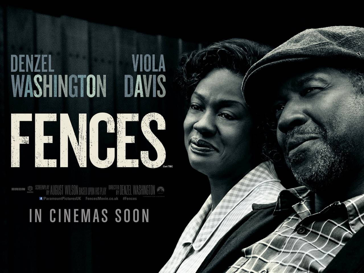 FENCES - Denzel Washington - poster