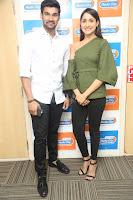 Pragya Jaiswal in a single Sleeves Off Shoulder Green Top Black Leggings promoting JJN Movie at Radio City 10.08.2017 150.JPG